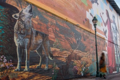 The Sound of Flight mural by Mural Mice and Sky Black.