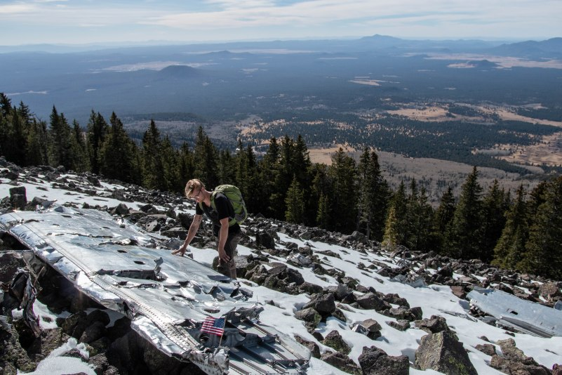 In 1944, a B-24 bomber crashed on the side of the San Francisco Peaks, killing all eight of the crew members. The wreckage has become a monument which many locals and tourists alike often hike to.